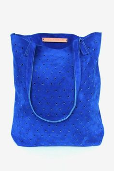 Suede Dot Tote by Pine Boon