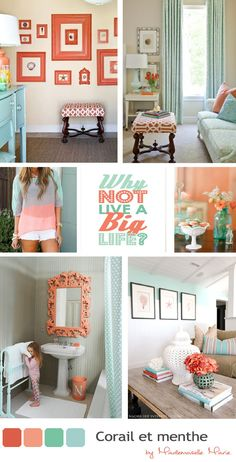 Totally in love with these colors right now! Wonderwall: Pretty palette - aqua and coral