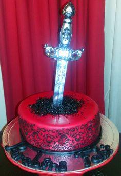 Cake Design Sword Medieval
