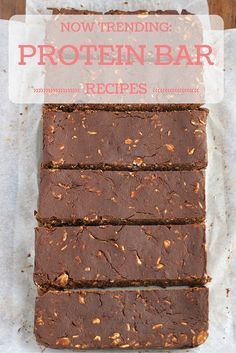 Trending Now: Most Shared Whey Protein Bar Recipes Best Vegan Protein Bars, Diy Protein Bars, Organic Protein Bars, Low Protein Diet, Chocolate Protein Bars, Vegan Protein Sources, Protein Bar Recipes, Protein Foods, Whey Protein