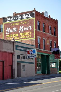 Scandia Hall – Butte Beer – Butte, MT – Fading Ad Blog