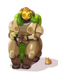 Patreon Reward - Orisa by yinza on DeviantArt Overwatch Zenyatta, Game Character, Character Design, Overwatch Wallpapers, Team 8, Robot Concept Art, What To Draw, Nicu, I Love Anime