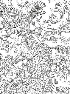 Angel Coloring Pages, Printable Adult Coloring Pages, Colouring Pages, Coloring Books, Coloring Sheets, Rock Painting Designs, Bunt, Free Printable, Besties