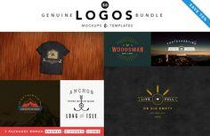 50 Genuine Logo Bundle - Save by Brazvan on Creative Market Texture Web, Photoshop Shapes, Design Typography, Font Names, Illustrations, All Fonts, Logo Templates, Background Images, Logos