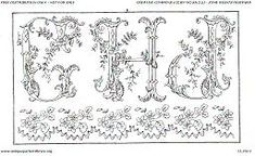 Floral Alphabet (for embroidery) but would look great printed or painted