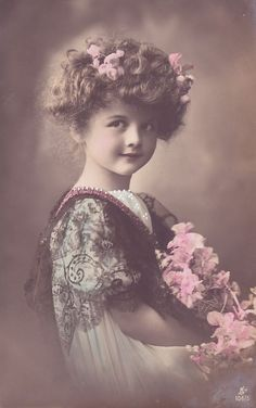 Vintage Rose Girl Photograph