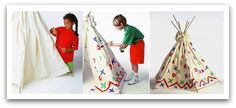 Kids build an Indian Tipi Tent to camp or play in. A tipi is a portable tent-like home of the Americans Indians often confused with a wigwam. Make a tipi the easy way. Instructions, tips and photos.