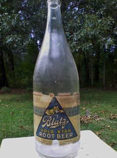 ANTIQUE 1920's-30's BLATZ BREWING GOLD STAR ROOT BEER PROHIBITION QUART BOTTLE