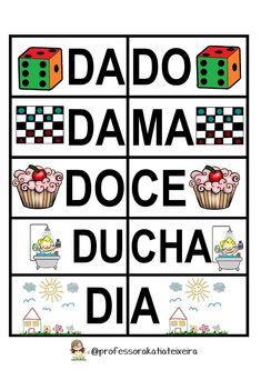 Jogo de alfabetização letras C - D palavras dissílabas ~ Espaço do Professor
