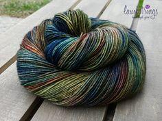 Sadie Sock HT 100g Hand dyed yarn Superwash merino by Lambstrings