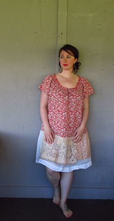 15 off Bohemian dress tunic/eco upcycled by lillienoradrygoods, $72.50