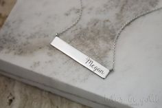ID Necklace Gold Necklace 14 karat gold Custom ID by TalesInGold