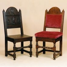 Based on a South Lancashire design circa Optional carved detail and upholstery. By Stuart Interiors. Vintage Dining Chairs, Oak Dining Chairs, Once Upon A Mattress, Solid Oak, Life Is Beautiful, All Design, Hand Carved, Medieval, Upholstery