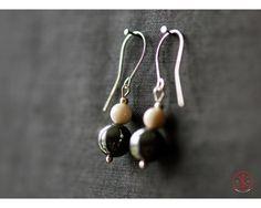 Hematite earrings Drop Earrings, Handmade, Jewelry, Hand Made, Jewlery, Bijoux, Schmuck, Drop Earring, Craft