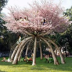 Cherry blossom treehouse