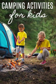 Going camping? Try these camping tips and hacks! Fun Camping Activities for Kids - Keep the kids busy and create memories! Camping Hacks, Camping Diy, Camping Ideas, Camping Guide, Camping Stuff, Camping Supplies, Camping Trailers, Beach Camping, Camping Essentials