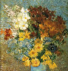 vase with daisies and anemones by van gogh summer 1887 - france