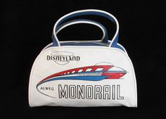 Vintage Disneyland Souvenir Monorail Tote Bag, ca. 1961 | Gorillas Don't Blog