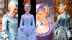 Costume: Blue Gown with Tricorn Hat from Marie Antoinette  Designer - Milena Canonero  www.facebook.com/TheLiteraryHeroines