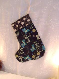 Pet Dog Christmas Stocking Funky Kitschy by SweetRepeatVintage, $12.95