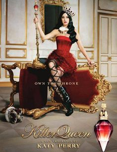 KatyPerry 以女皇造型推出最新香氛Killer Queen。  www.elle.com.hk  #katyperry #killerqueen #fragrance