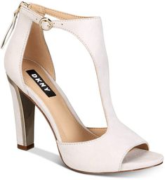 Dkny Colby T-Strap Sandals, Created For Macy's - Tan/Beige Ankle Strap Heels, Ankle Straps, Ankle Strap Sandals, High Heel Boots, Shoe Boots, High Heels, Pump Shoes, Shoes Heels, Kids Sandals