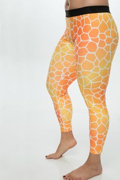 "We're excited to launch the giraffe print in our ""Slick"" range of leggings to the GRRRL line!  Us GRRRLs are gentically blessed with superior legs... and what better way to make that statement than these amazing fit prints? Made from 90% polyester and 10% spandex, the Slick leggings offer a durable, stretchy fit, with a slick-like feel on the outside. We think they are slick AF.  With a 2"" elastic waistband, these leggings are great for grrrls who aren't looking for a high-waisted fit. We…"