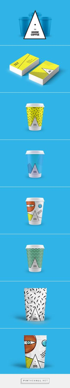 The Goode Coffee on Behance by Allan Revah curated by Packaging Diva PD abstract packaging art love.
