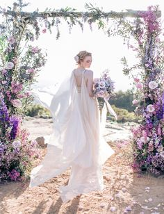 cape wedding dress. Our floral design from our inspirational Art Deco inspired shoot featured on Green Wedding Shoes. Floral Design Tularosa Flowers