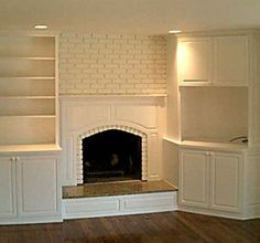 Built in Cabinets around Fireplace | Handmade Custom Built-Ins On Either Side Of Fireplace by Best Cabinets ...