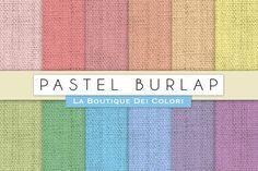 Pastel Burlap Digital Papers. Textures. $3.00