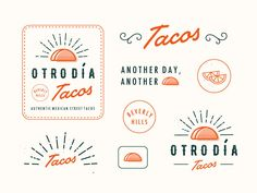 Otro Día Tacos | A great example of theme for logos