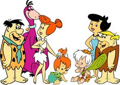 Fred,Dino,Wilma, Pebbles,Bambam,Betty and Barney.