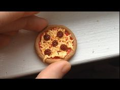 Pepperoni Pizza: Polymer Clay Tutorial - YouTube