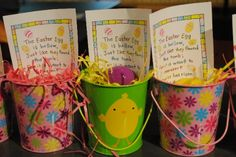 Easter Party Favor - Empty Egg Pails - Happy Home Fairy Hoppy Easter, Easter Eggs, Easter Table, Holiday Fun, Holiday Crafts, Christmas Ideas, Happy Home Fairy, Diy Ostern, Easter Crafts