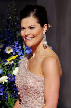 Princess Victoria of Sweden attends the Government Pre-Wedding Dinner for Crown Princess Victoria of Sweden and Daniel Westling at The Eric Ericson Hall on June 18, 2010 in Stockholm, Sweden.