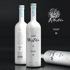 Mastiha Liqueur bottle packaging design