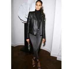 Model Street Style - Joan Smalls at a celebration for Moscow's Garage. Garance, Joan Smalls, Model Street Style, Naomi Campbell, Celebs, Celebrities, Street Chic, Wall Street, Black Is Beautiful