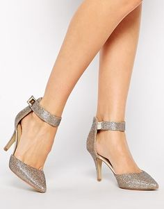 Enlarge Oasis Georgia Sparkle Two Part Court Shoes