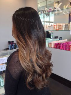Balayage soft ombre. Sombre hair