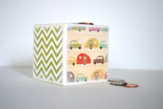 On The Road Again Kids Piggy Bank by Mmim on Etsy, $13.00