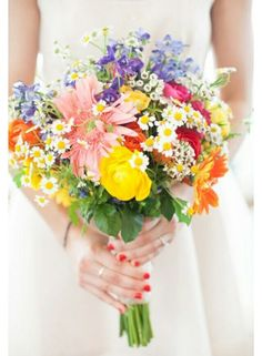 Wildflower bouquet. I would add lily of the valley and lavender !!