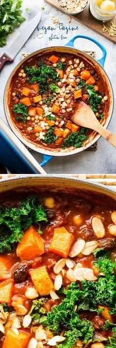 #tagine #veggie #vegan #vegantagine #vegetarian #chickpeas #pumpkin #butternutsquash #kale #healthy #easy #instantpot #entree #lunch #dinner