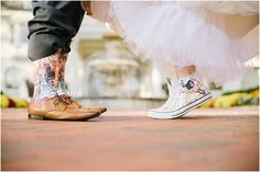 The Ashford Estate // Fall Wedding by NJ Photographer Off BEET Productions// Wonder woman converse wedding shoes