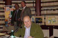 Roberto Mattioli con gli organizzatori Luca Filipponi e Francesco Acampora