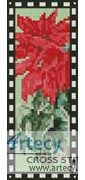 Poinsettia Bookmark Counted Cross Stitch Pattern http://www.artecyshop.com/index.php?main_page=product_info&cPath=26&products_id=1394