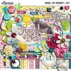 Angel or Demon | Kit for Digital Scrapbooking