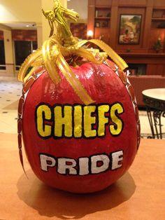 Chiefs football Pumpkin
