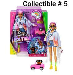 Mattel Barbie, Barbie Shop, Barbie Doll Car, Barbies Dolls, Barbie Stuff, Barbie Dress, Barbie Clothes, Rainbow Braids, Girl Hair Colors