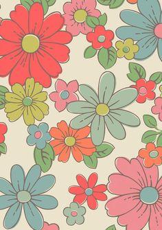 retro daisy print/pattern